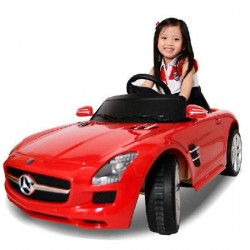 BENZ--SLS AMG原廠授權 兒童電動車 遙控電動車