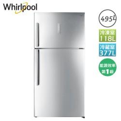 495L 創易上下門冰箱鈦金鋼WIT2515G Whirlpool 惠而浦